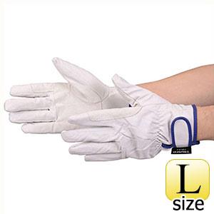 TRUSCO マジック式防寒豚本革手袋 当て付タイプ Lサイズ TWLGL 8539