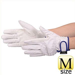 TRUSCO マジック式防寒豚本革手袋 当て付タイプ Mサイズ TWLGM 8539