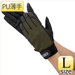 TRUSCO PU薄手手袋エンボス加工 OD L TPUMODL 8539