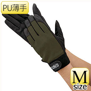 TRUSCO PU薄手手袋エンボス加工 OD M TPUMODM 8539