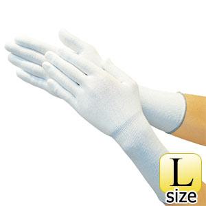 TRUSCO ホワイトHPPEインナー手袋ロング L TGL5100KLL 8539