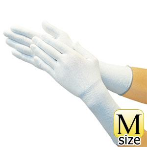 TRUSCO ホワイトHPPEインナー手袋ロング M TGL5100KLM 8539