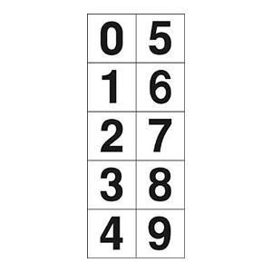 TRUSCO 数字ステッカ— 30×30 「0〜9」連番 白 1枚入 TSN3010 3100