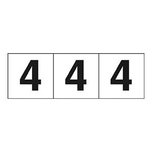 TRUSCO 数字ステッカー 30×30 「4」 白 3枚入 TSN304 3100