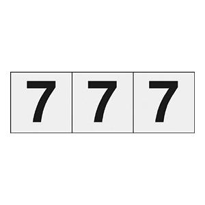 TRUSCO 数字ステッカー 30×30 「7」 透明 3枚入 TSN307TM 3100