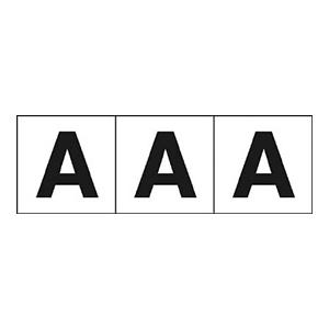 TRUSCO アルファベットステッカー 30×30 「A」 白 3枚入 TSN30A 3100