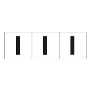 TRUSCO アルファベットステッカー 30×30 「I」 白 3枚入 TSN30I 3100