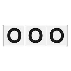 TRUSCO アルファベットステッカー 30×30 「O」 透明 3枚入 TSN30OTM 3100