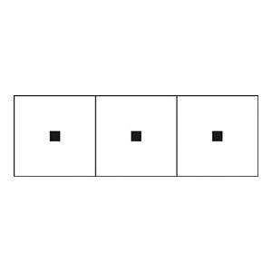 TRUSCO アルファベットステッカー 30×30 点 白 3枚入 TSN30TN 3100