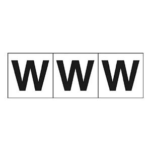 TRUSCO アルファベットステッカー 30×30 「W」 白 3枚入 TSN30W 3100