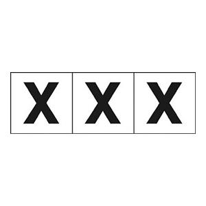 TRUSCO アルファベットステッカー 30×30 「X」 白 3枚入 TSN30X 3100