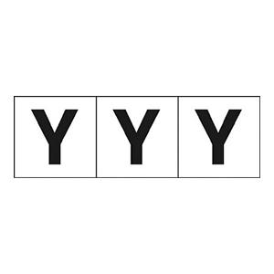 TRUSCO アルファベットステッカー 30×30 「Y」 白 3枚入 TSN30Y 3100