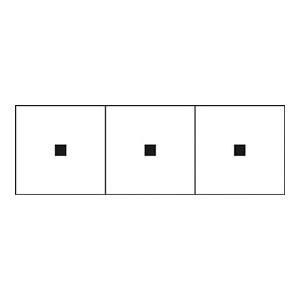 TRUSCO アルファベットステッカー 50×50 点 白 3枚入 TSN50TN 3100