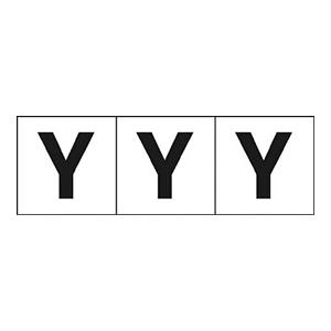 TRUSCO アルファベットステッカー 50×50 「Y」 白 3枚入 TSN50Y 3100