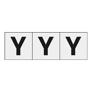 TRUSCO アルファベットステッカー 50×50 「Y」 透明 3枚入 TSN50YTM 3100