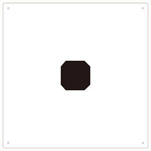 TRUSCO 表示板 アルファベット「点」 420X420 TAEHTN 3100