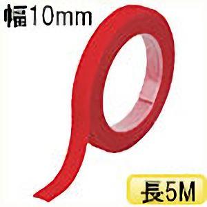 TRUSCO マジックバンド結束テープ 両面 幅10mmX長さ5m 赤 MKT10VR 3100