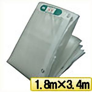 TRUSCO ライトクリアメッシュシート 幅1.8mX長さ3.4m クリア LCM1834TM 3100