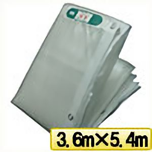 TRUSCO ライトクリアメッシュシート 幅3.6mX長さ5.4m クリア LCM3654TM 3100