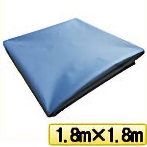 TRUSCO ターポリンシート ブルー 1800X1800 0.35mm厚 TPS1818B 8000