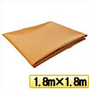 TRUSCO ターポリンシート オレンジ 1800X1800 0.35mm厚 TPS1818OR 8000