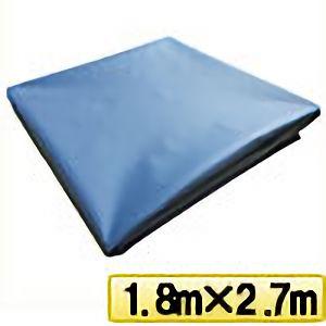 TRUSCO ターポリンシート ブルー 1800X2700 0.35mm厚 TPS1827B 8000