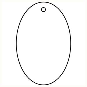 TRUSCO 白無地板 楕円型 5枚組 45×30×2厚 T88649 3100