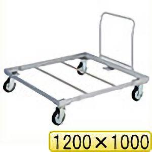 TRUSCO パレット台車 1200x1000 ハンドル付 PLK051210H 8000