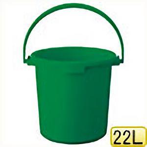 TRUSCO PPカラーバケツ 22L 緑 TPPB22GN 8037