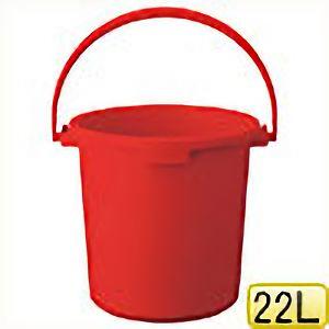 TRUSCO PPカラーバケツ 22L 赤 TPPB22R 8037