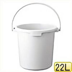 TRUSCO PPカラーバケツ 22L 白 TPPB22W 8037