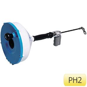 TRUSCO 排水管掃除機(手動タイプ) ハンディスネークPH ワイヤーSW0608付き PH2 2245