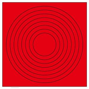 ゲージマーカー 446−85 円形赤