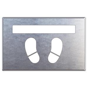 路面表示用品 819−33A 吹付け用プレート ライン/足型