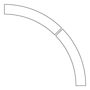 ドア開閉表示ステッカー 819−60 アール型 白