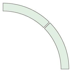 ドア開閉表示ステッカー 819−62 アール型 蓄光