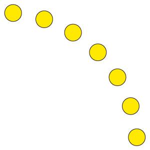 ドア開閉表示ステッカー 819−64 丸型 黄