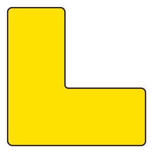 置場表示ステッカー 819−67 L型 黄