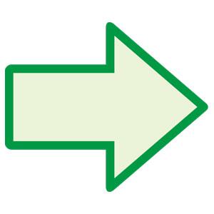 避難・誘導標識 824−53 蓄光矢印ステッカー (緑枠)