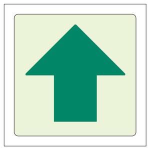 床面誘導標識 829−17 ↑ 上矢印