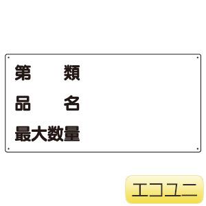 危険物標識 830−72 第類 品名 最大数量