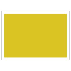 防災・訓練用品 831−966 ゼッケンステッカー 背中用 黄色無地