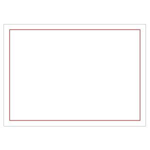 防災・訓練用品 831−967 ゼッケンステッカー 背中用 赤枠白地無地