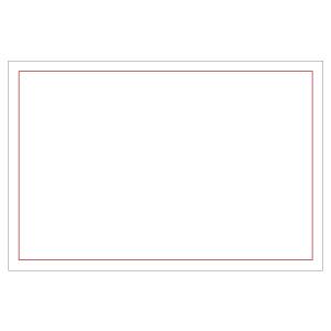 防災・訓練用品 831−977 ゼッケンステッカー 胸用 赤枠白地無地