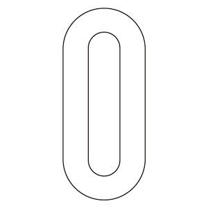 路面表示用品 834−50 路面用番号表示 0 天地280 白