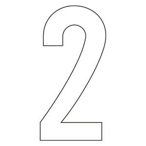 路面表示用品 834−52 路面用番号表示 2 天地280 白