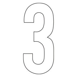 路面表示用品 834−53 路面用番号表示 3 天地280 白