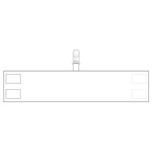 腕章 848−66 無地 白 クリップタイプ