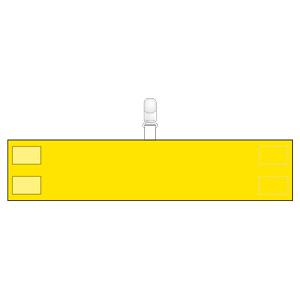 腕章 848−67 無地 黄 クリップタイプ