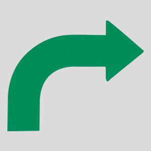 矢印テープ 862−12R 右緑 10枚1組